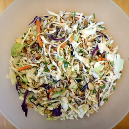 Cabbage Salad with Ginger-Tahini Dressing